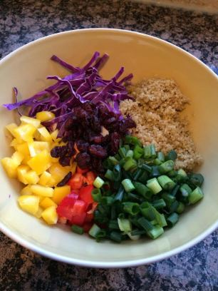 cabbage quinoa salad ingredients