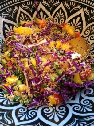 cabbage quinoa salad tossed