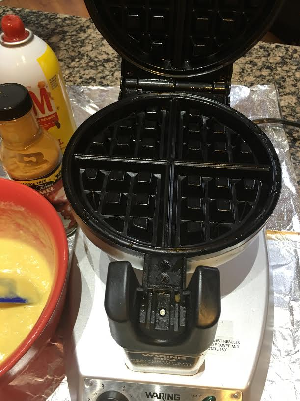 low carb waffles ingredients with waffle iron