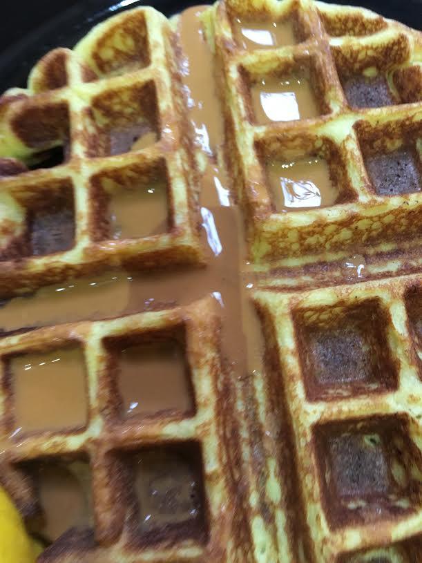 low carb waffles up close