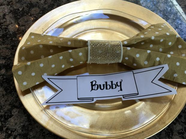 bowtie napkins on plate