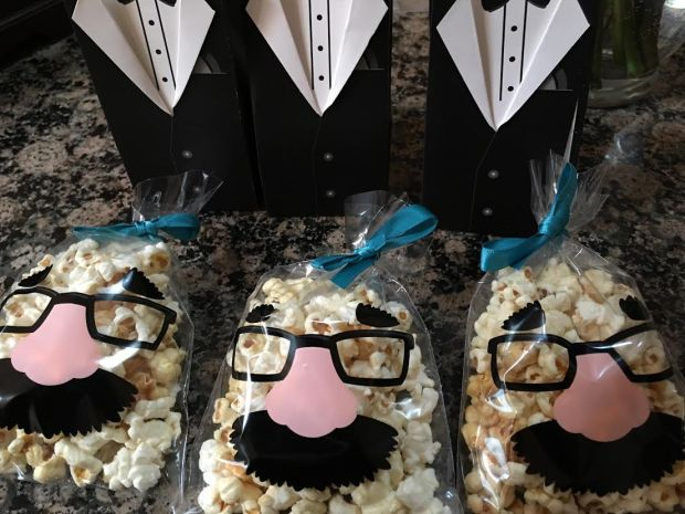 little man popcorn and tuxedo boxes