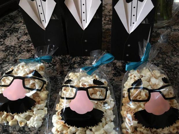 little man popcorn and tuxedo boxes