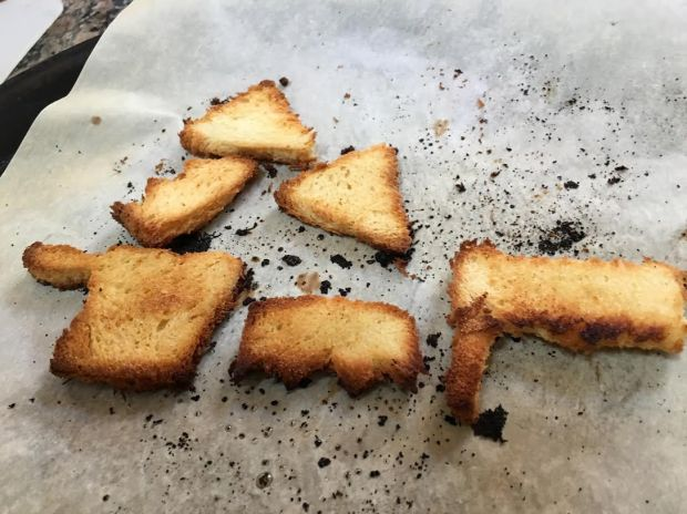 mason jar purim croutons