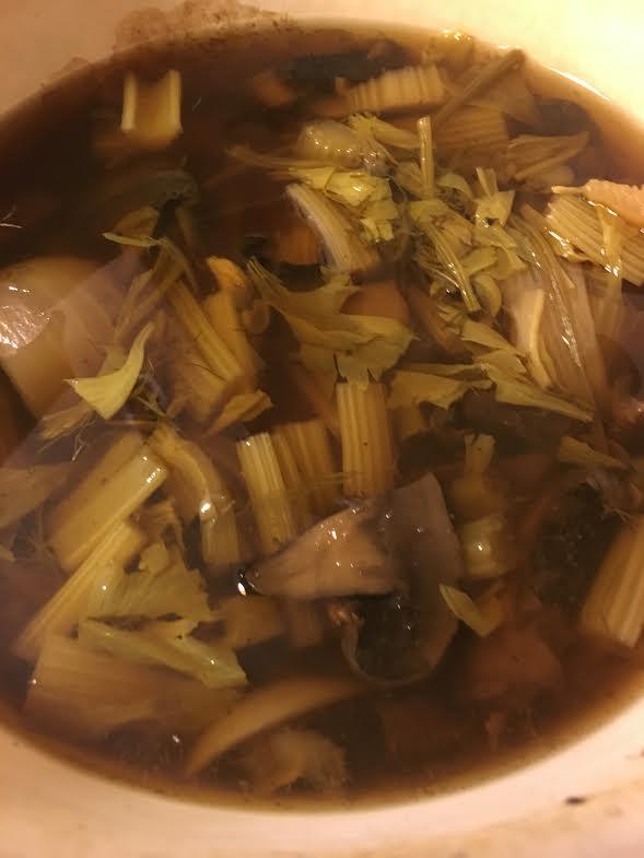 mushroom celery soup