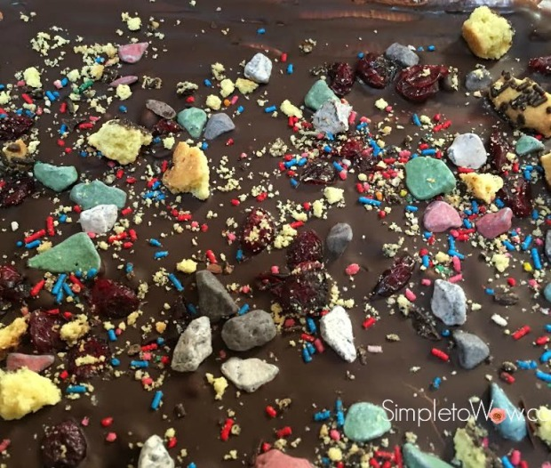 chocolate bark confetti