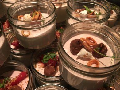 cramim dinner buffet mousse in mini mason jars