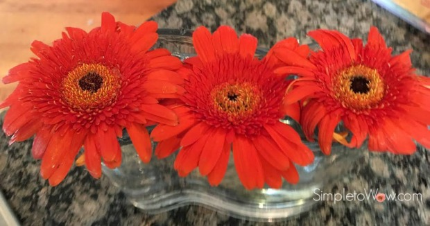 last week's gerber daisies in wave bowl