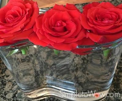 last week's roses in a row