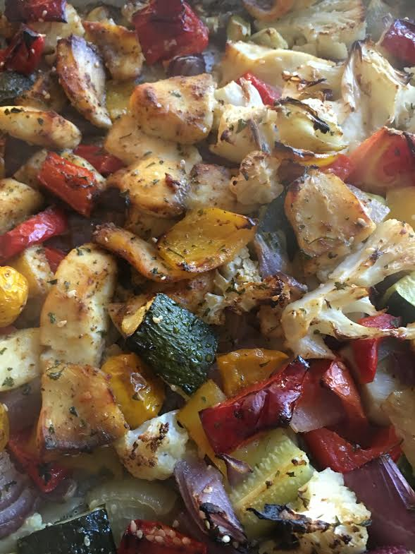 shwarma chicken with roasted vegetables 2
