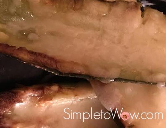 zucchini logs-up close