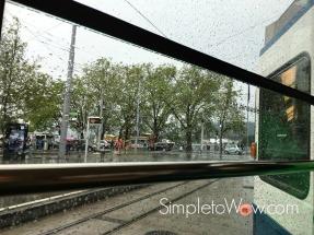 zurich-in the rain by trolley