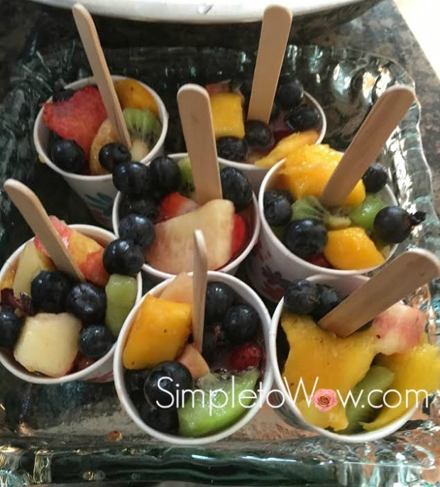 fruit salad ice pops in freezer