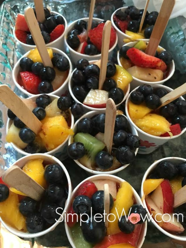 fruit salad ice pops with sticks