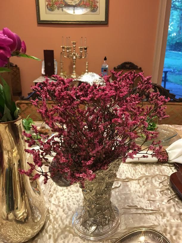 magenta flowers tri up close
