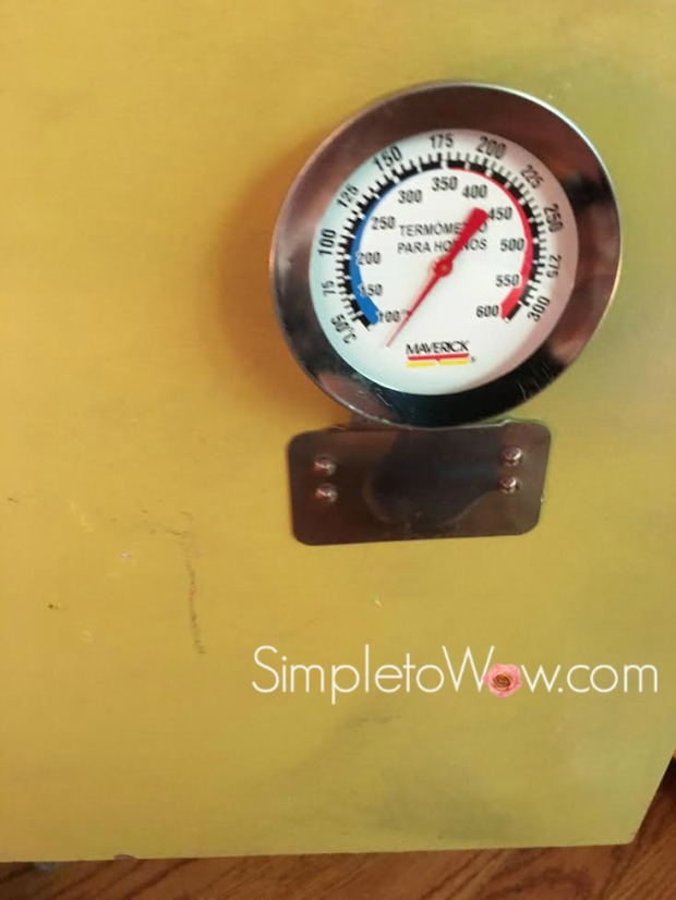 diy kids kitchen-oven thermometer