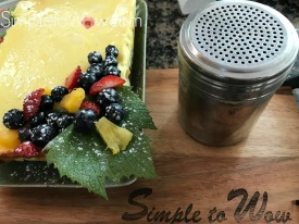 simply perfect cheesecake with fruit