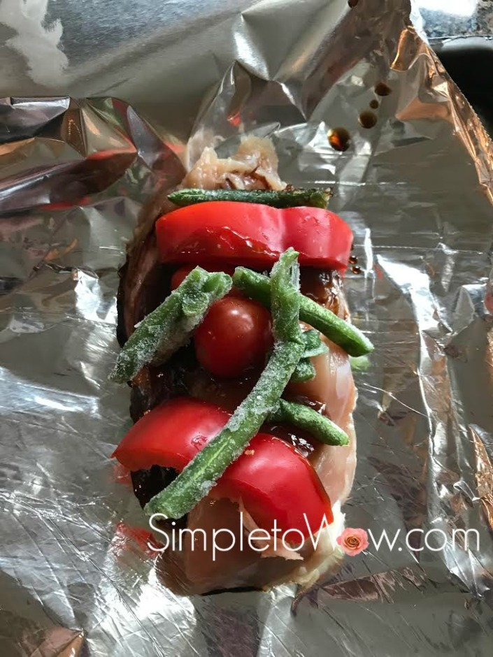 Chicken foil packet before cooking simple to wow for Chicken and vegetables in foil packets recipe