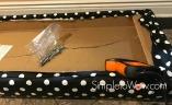 kate spade bench -fabric stapling