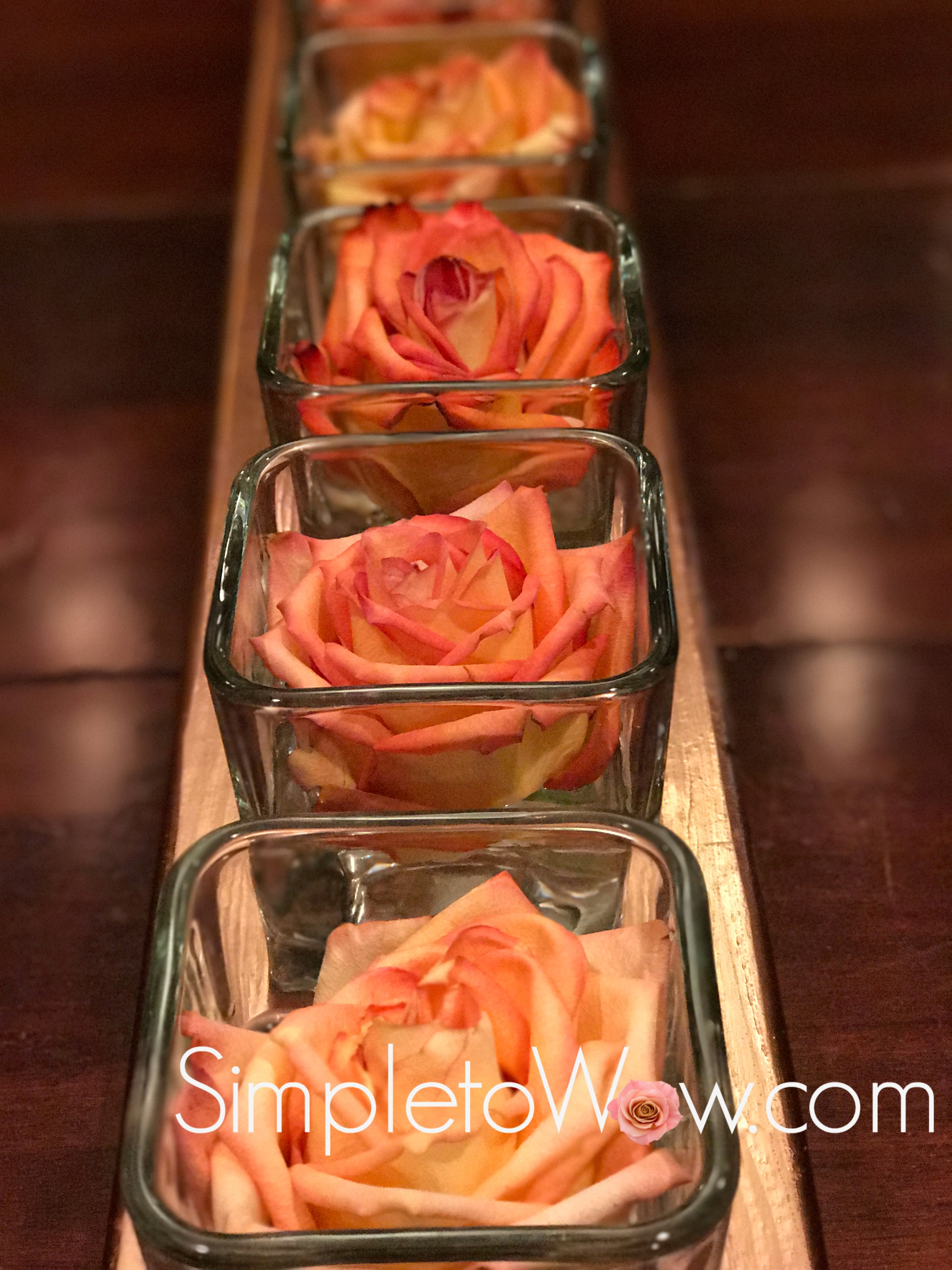 roses on copper