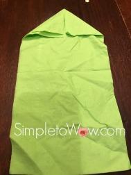 lulav napkin fold-1st folds for lulav palm