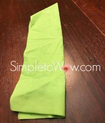 lulav napkin fold-2nd foldfor lulav palm