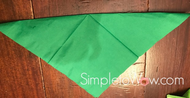 lulav napkin-triangle fold for leaves