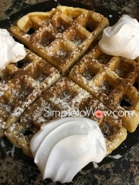 waffles for a crowd-topped