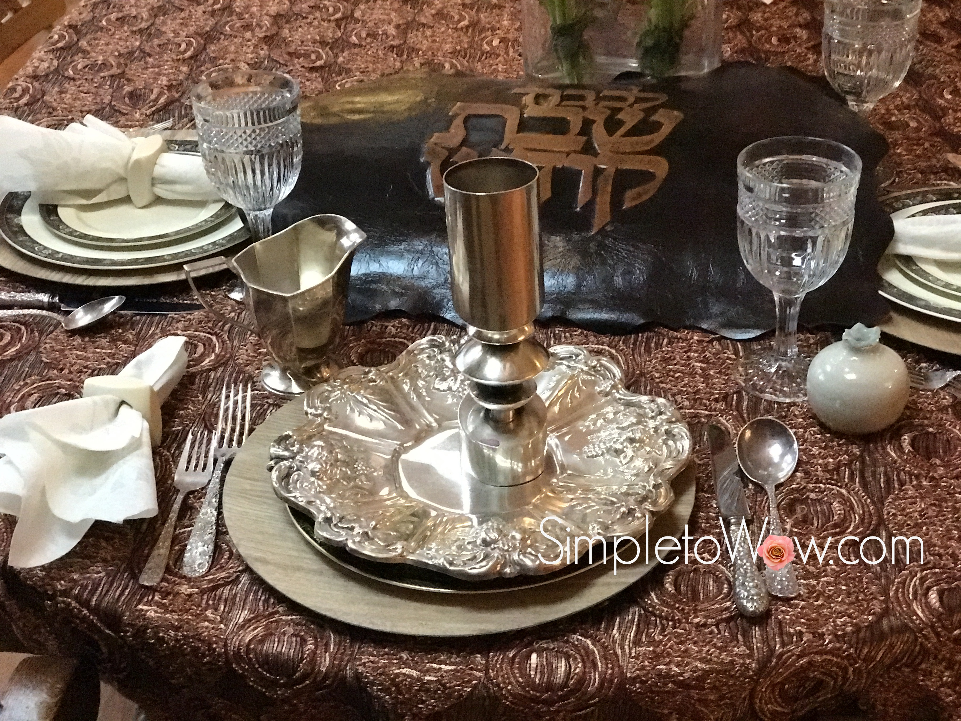 Our Shabbos Table & Table Settings   simple to wow