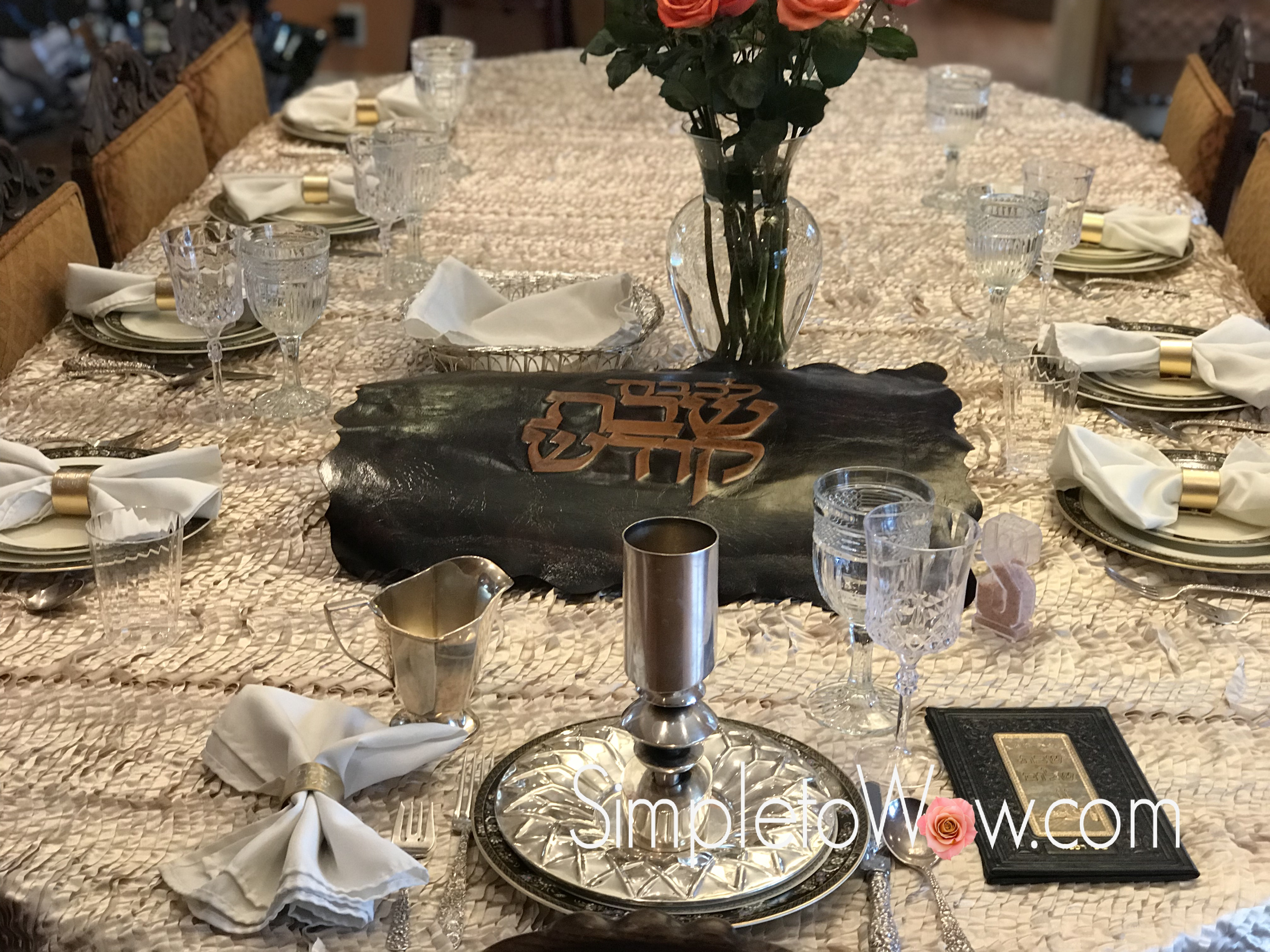 & Shabbos Table Setting: Using Napkins as the Star   simple to wow