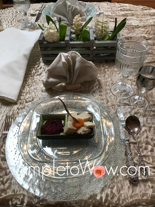 standing napkins in table setting