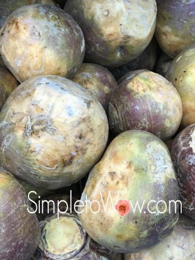 waxed turnips rutabagas