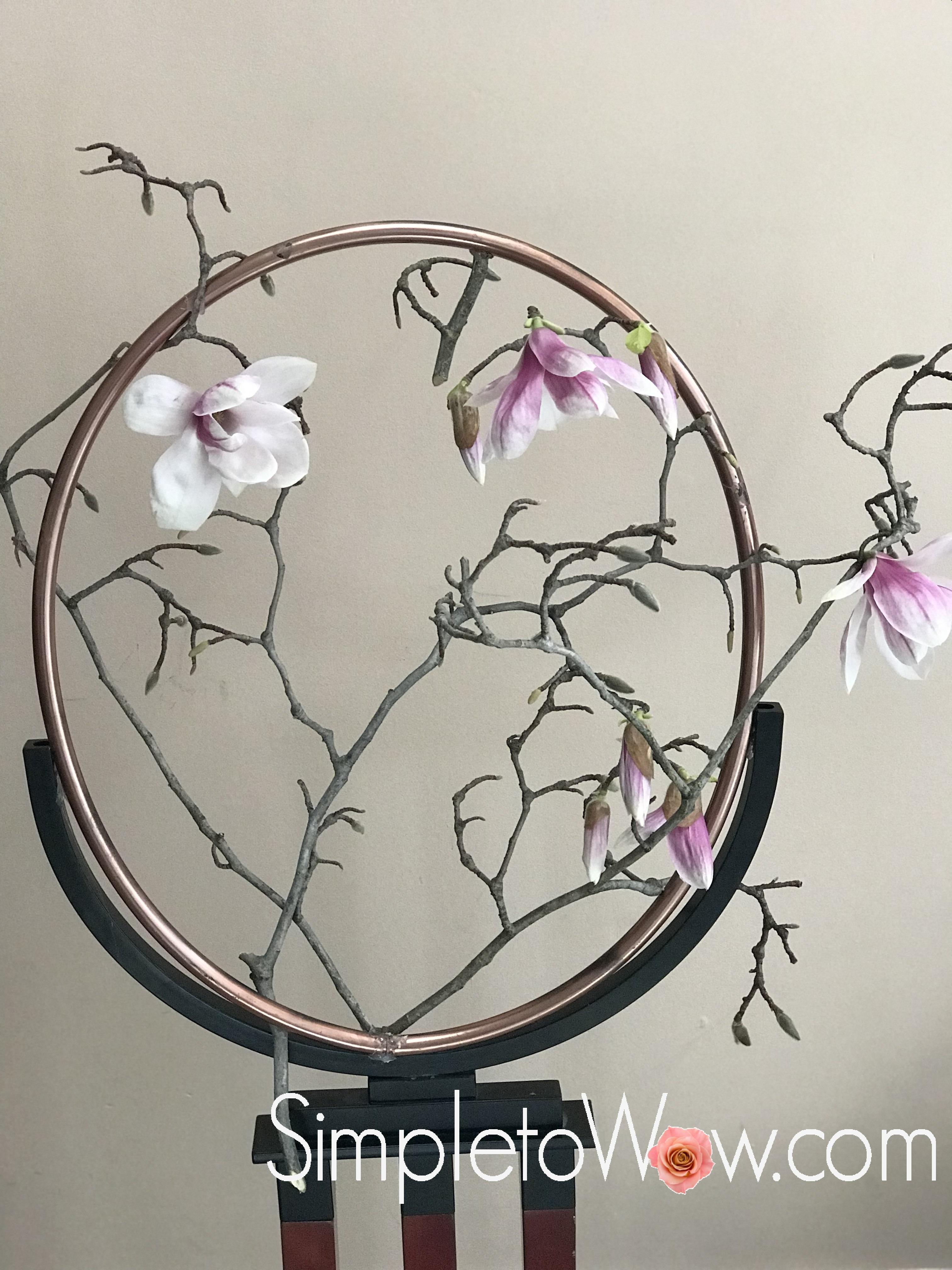 magnolia hoop arrangement 2