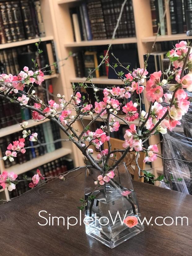 quince blossom arrangement