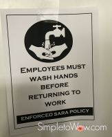 sara handwashing bathroom sign